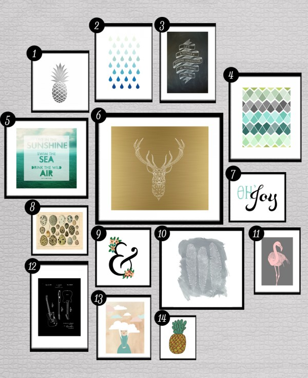 Gallery Wall roundup: free printables for gallery walls • little gold pixel