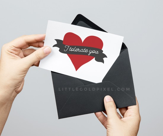 I Tolerate You Free Valentines / Freebie Fridays • Little Gold Pixel