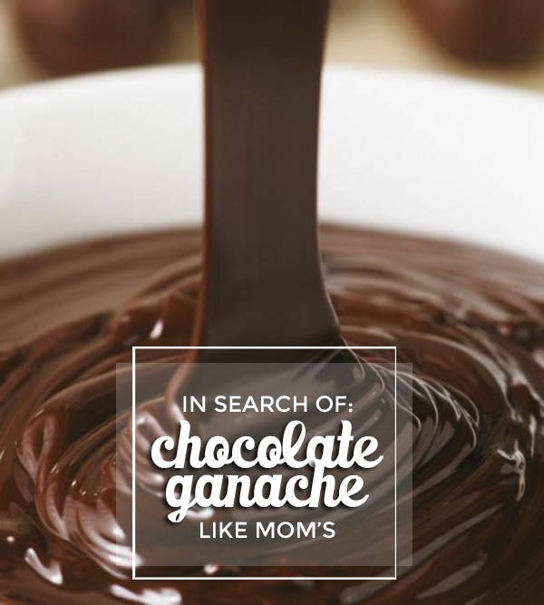 In Search of Mom's Perfect Chocolate Ganache • In which I hunt down clues on how to re-create my mom's perfect chocolate ganache. I uncover some recipes that are worthy of experimentation • littlegoldpixel.com