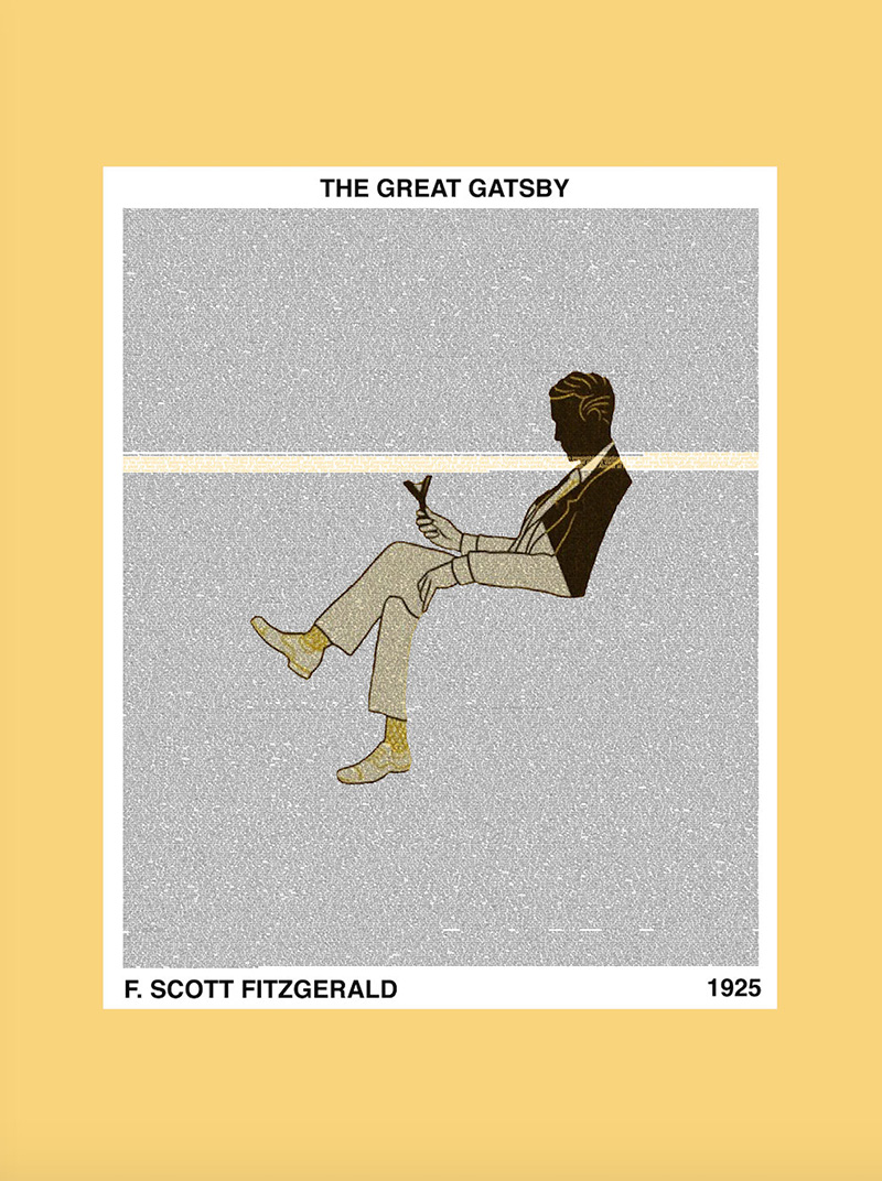Frame Game: Grand Art Deco Charm for a Gatsby Fan • Art by TradeMark Design on Etsy: https://www.etsy.com/listing/244023126/the-great-gatsby-classic-novel-graphic