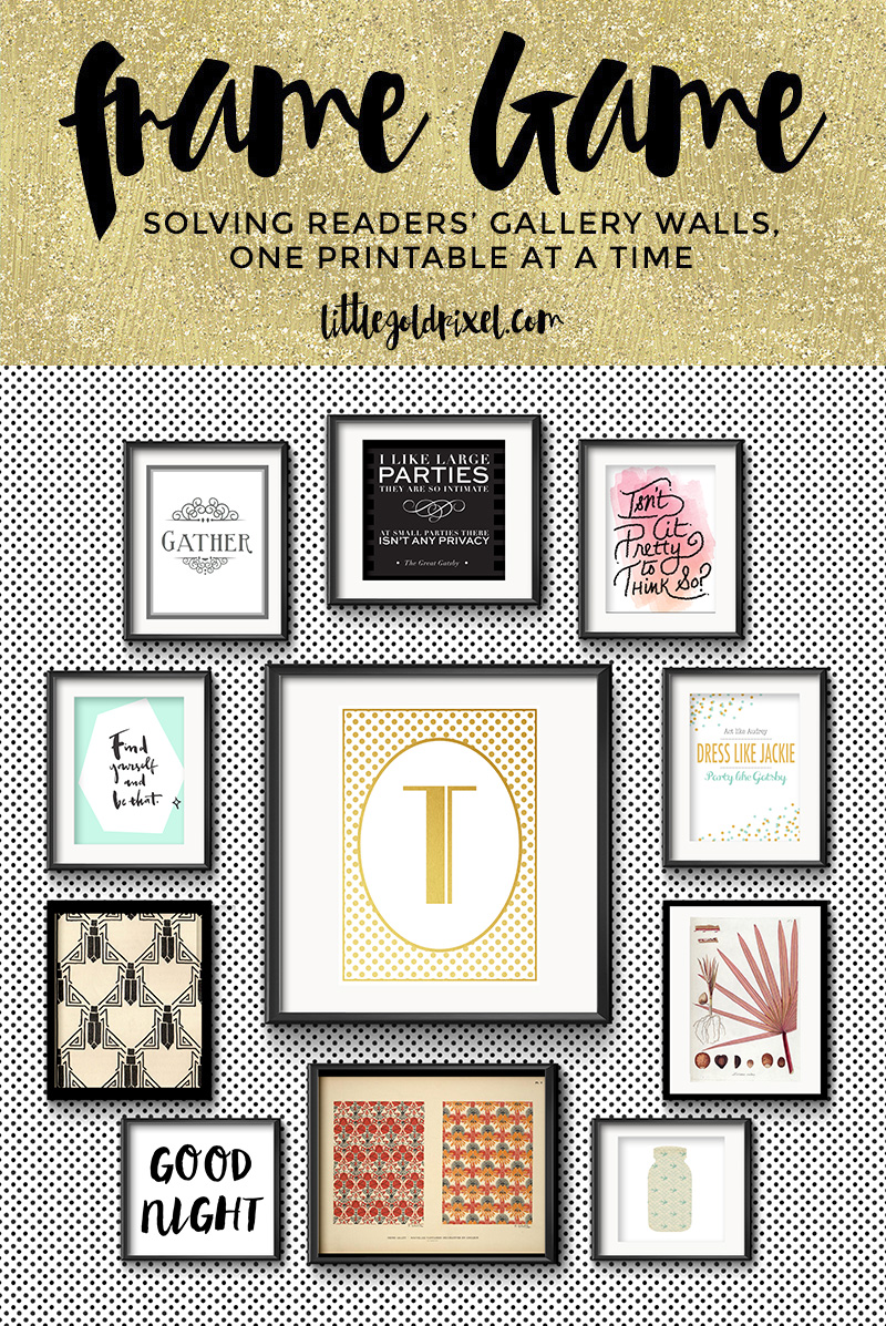 Frame Game: Grand Art Deco Charm for a Gatsby Fan • Frame Game is an occasional series in which I take readers' gallery wall requests and find art that fits their personalities • Little Gold Pixel • littlegoldpixel.com