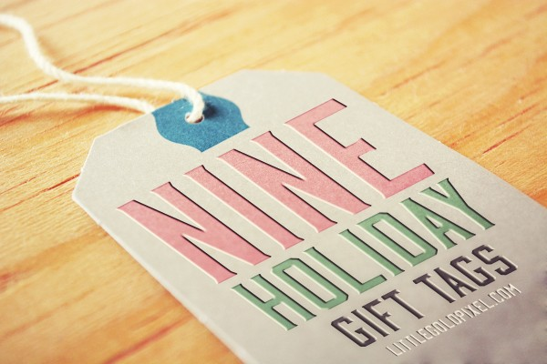 Easy & Free Modern Holiday Gift Tags • littlegoldpixel.com • Nine fun, mod gift tags available in a free printable