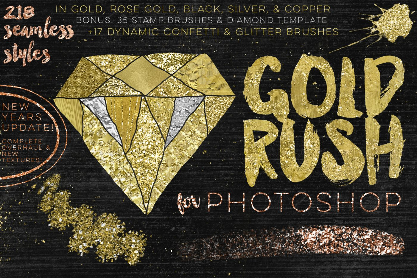 Top 5 Design Tools • Little Gold Pixel • Gold Rush Brush Kit