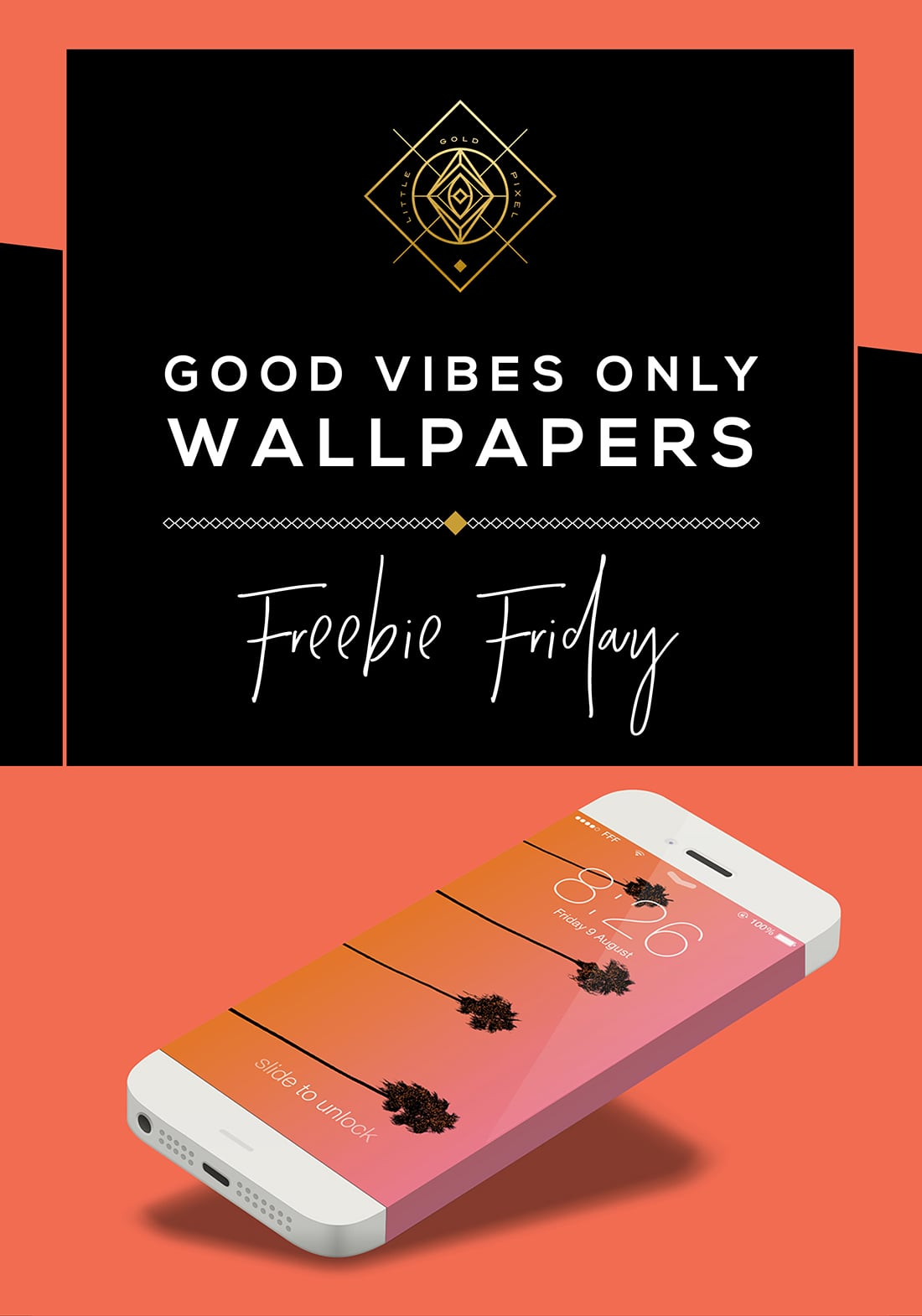 Good Vibes Only Free Wallpaper / Freebie Fridays • Little Gold Pixel