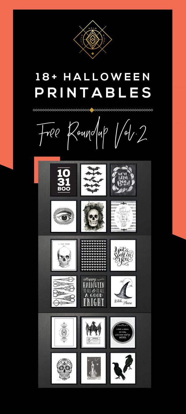 Free Halloween Printables Roundup Vol. 2 • Little Gold Pixel