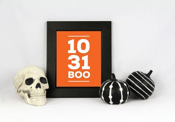 Halloween Minimal Free Art Printable • Little Gold Pixel