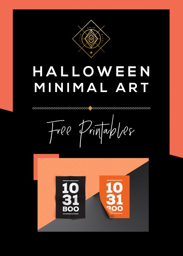 Halloween Minimal Free Art Printable • Little Gold Pixel
