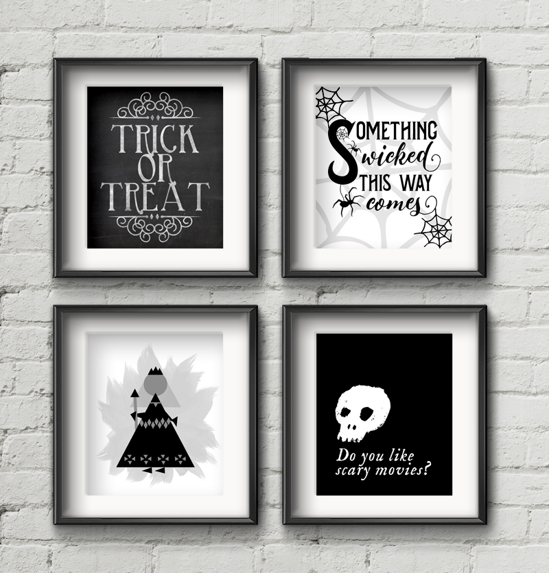12 Free Halloween Printables • Little Gold Pixel
