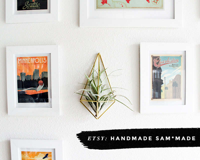 8 Awesome Air Plant Hangers • Little Gold Pixel • Handmade Sam*Made