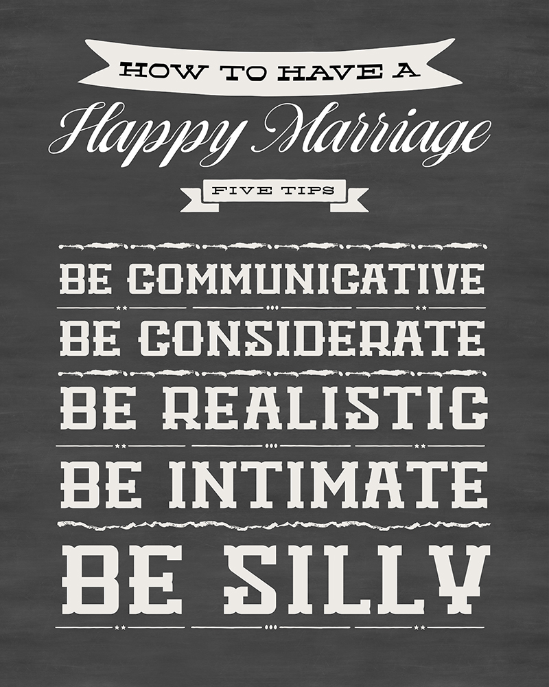Free Printable: Tips for a Happy Marriage • Little Gold Pixel