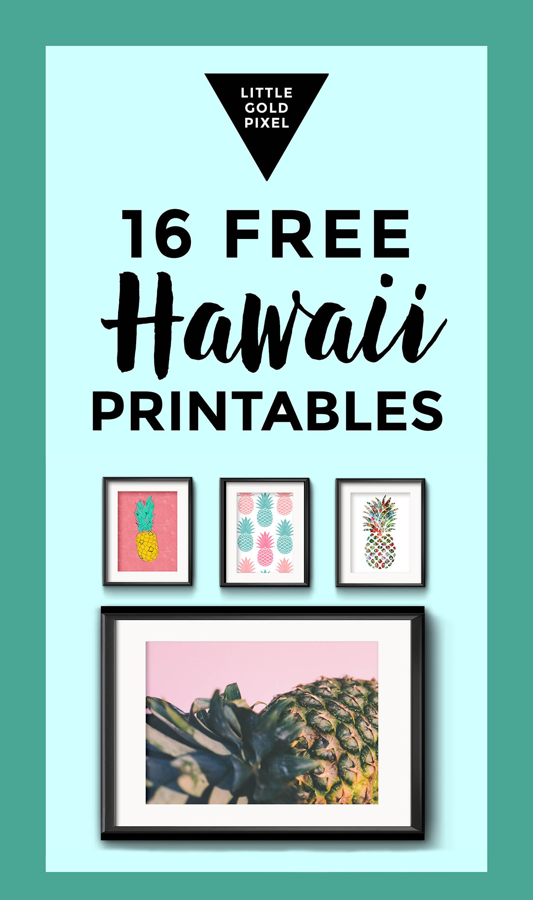 Free Travel Art: Hawaii • Little Gold Pixel
