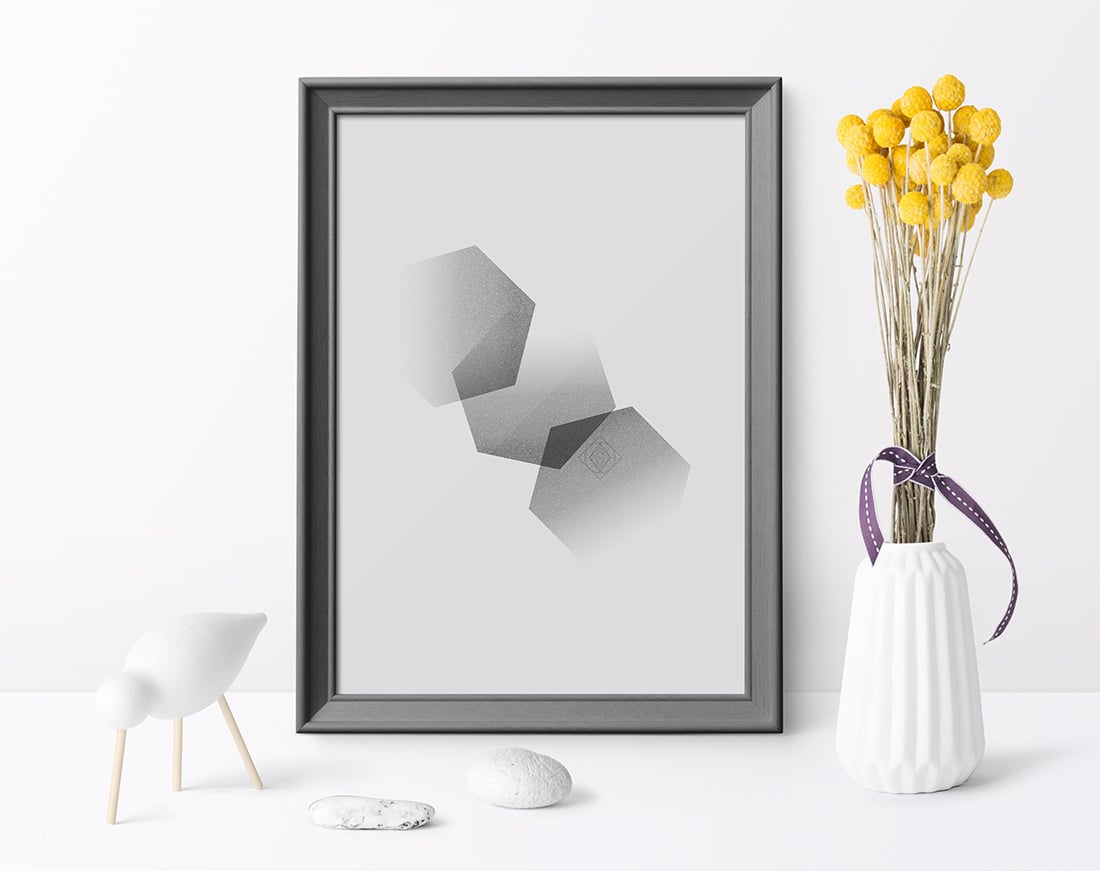Free Minimal Hexagon Art Printable / Freebie Fridays