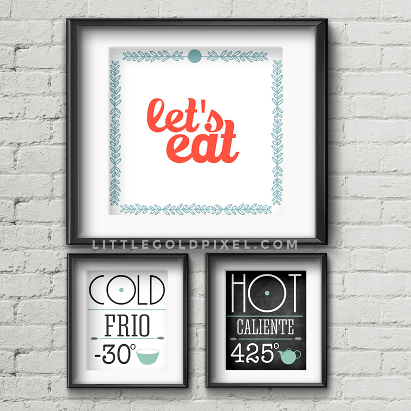 Kitchen Free Printables • Little Gold Pixel