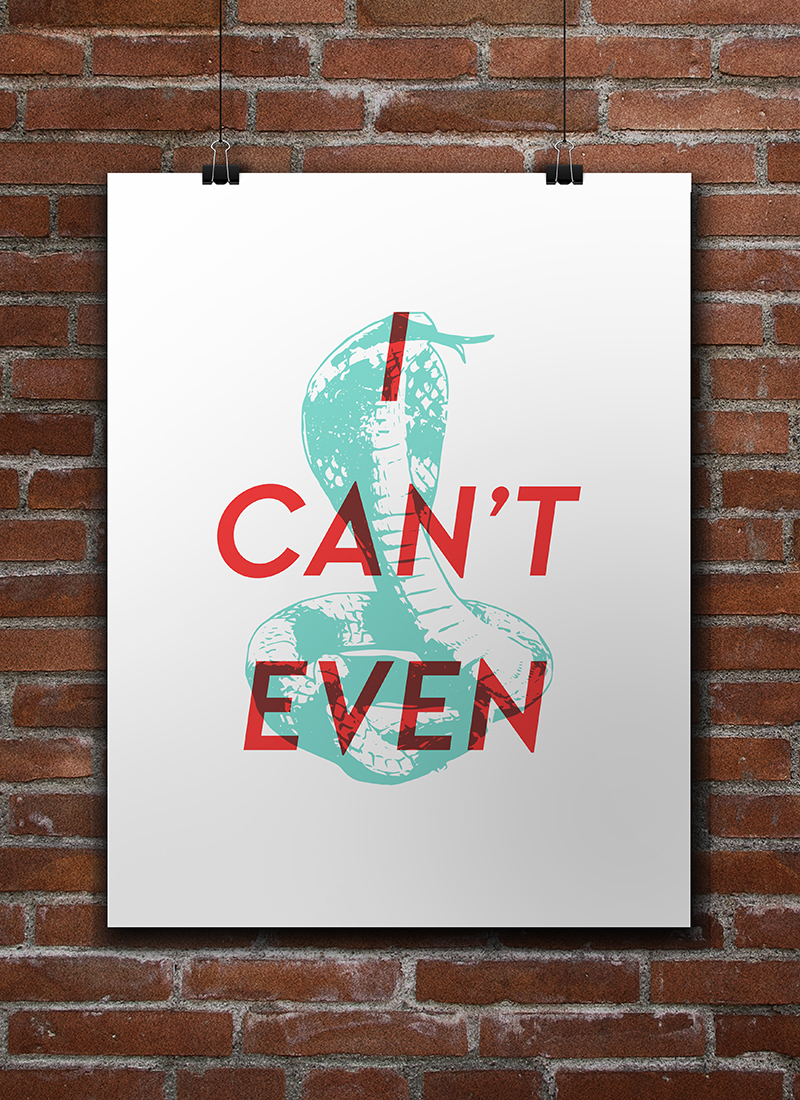 I Can't Even Free Printable • Little Gold Pixel