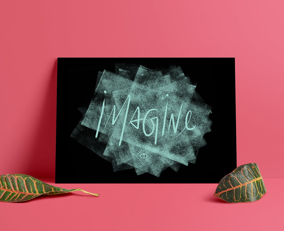 Imagine Free Printable • Little Gold Pixel