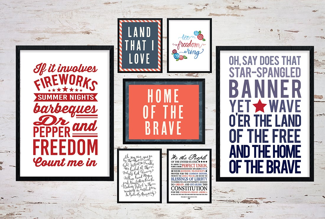 25+ July 4th Free Printables • Little Gold Pixel