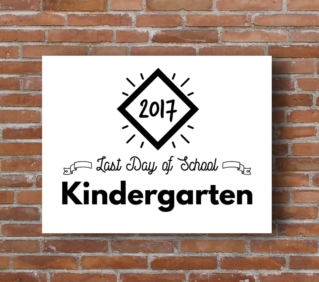 Last Day of School Printable Signs • Little Gold Pixel