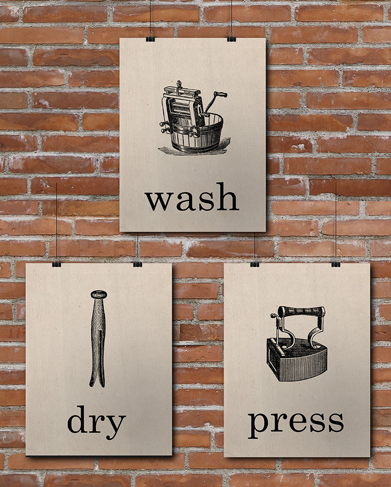 photograph relating to Free Printable Laundry Room Signs titled 15 Laundry Area Free of charge Printables Very little Gold Pixel