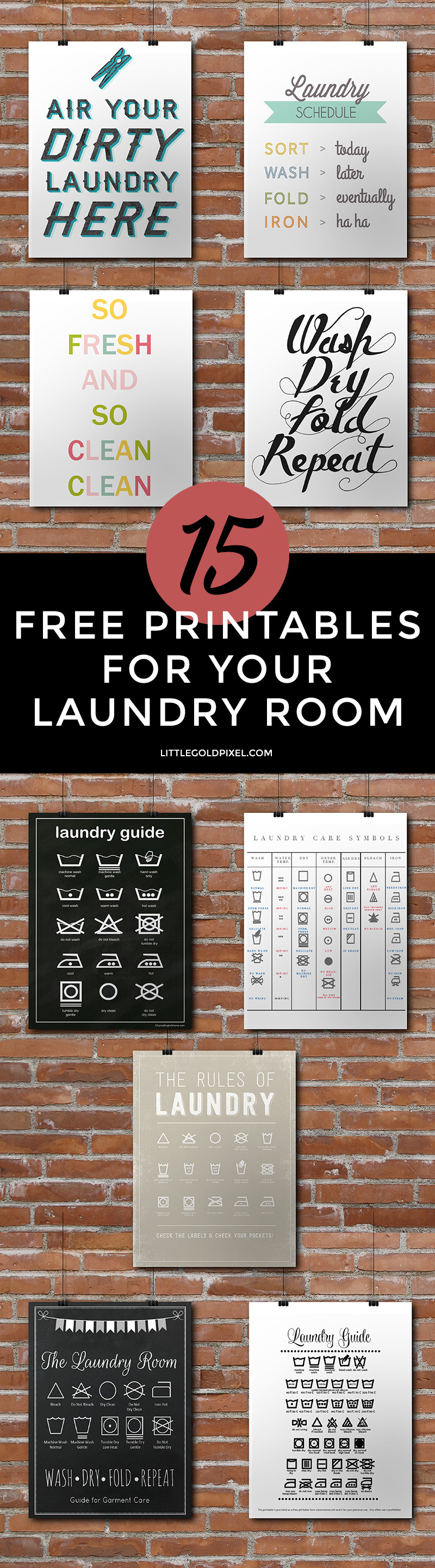 Laundry Room Free Printable Roundup