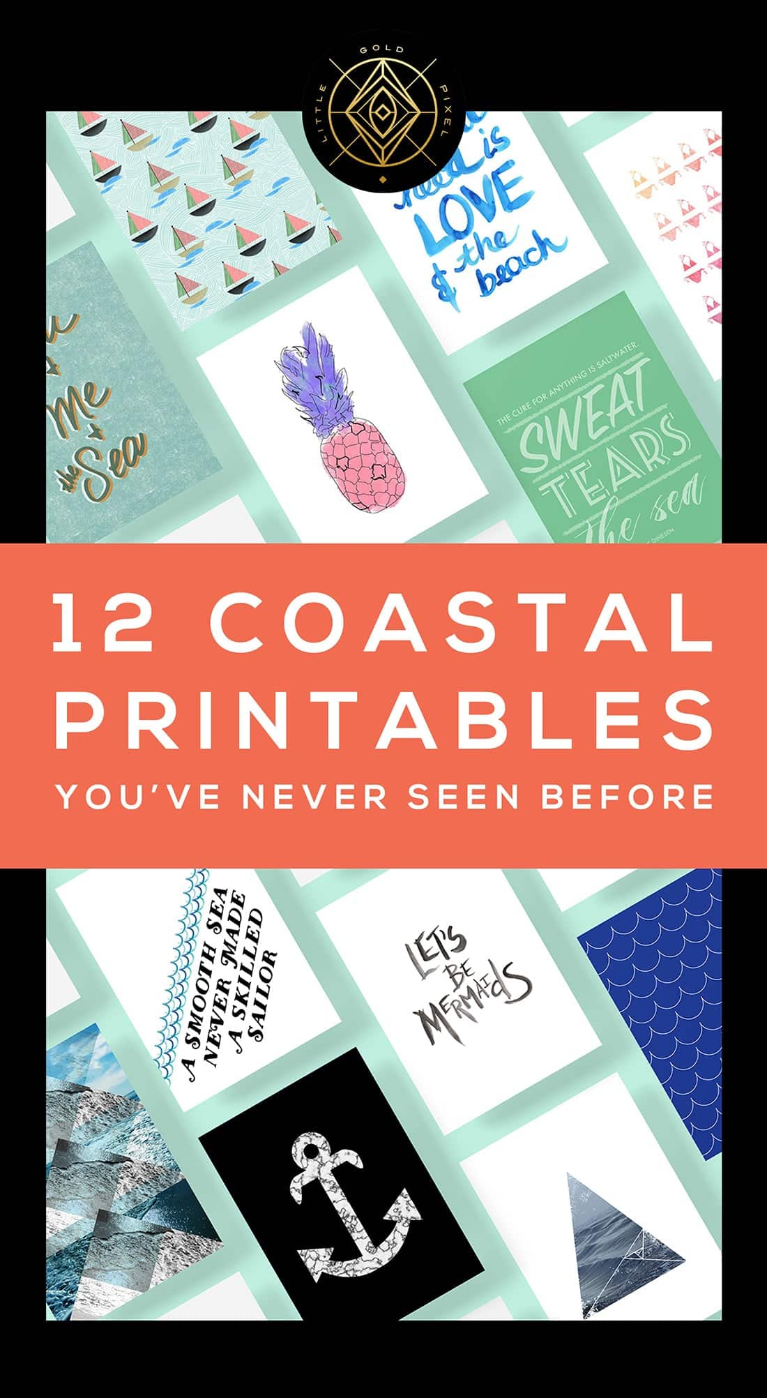 12 Coastal Printables You've Never Seen Before • Little Gold Pixel