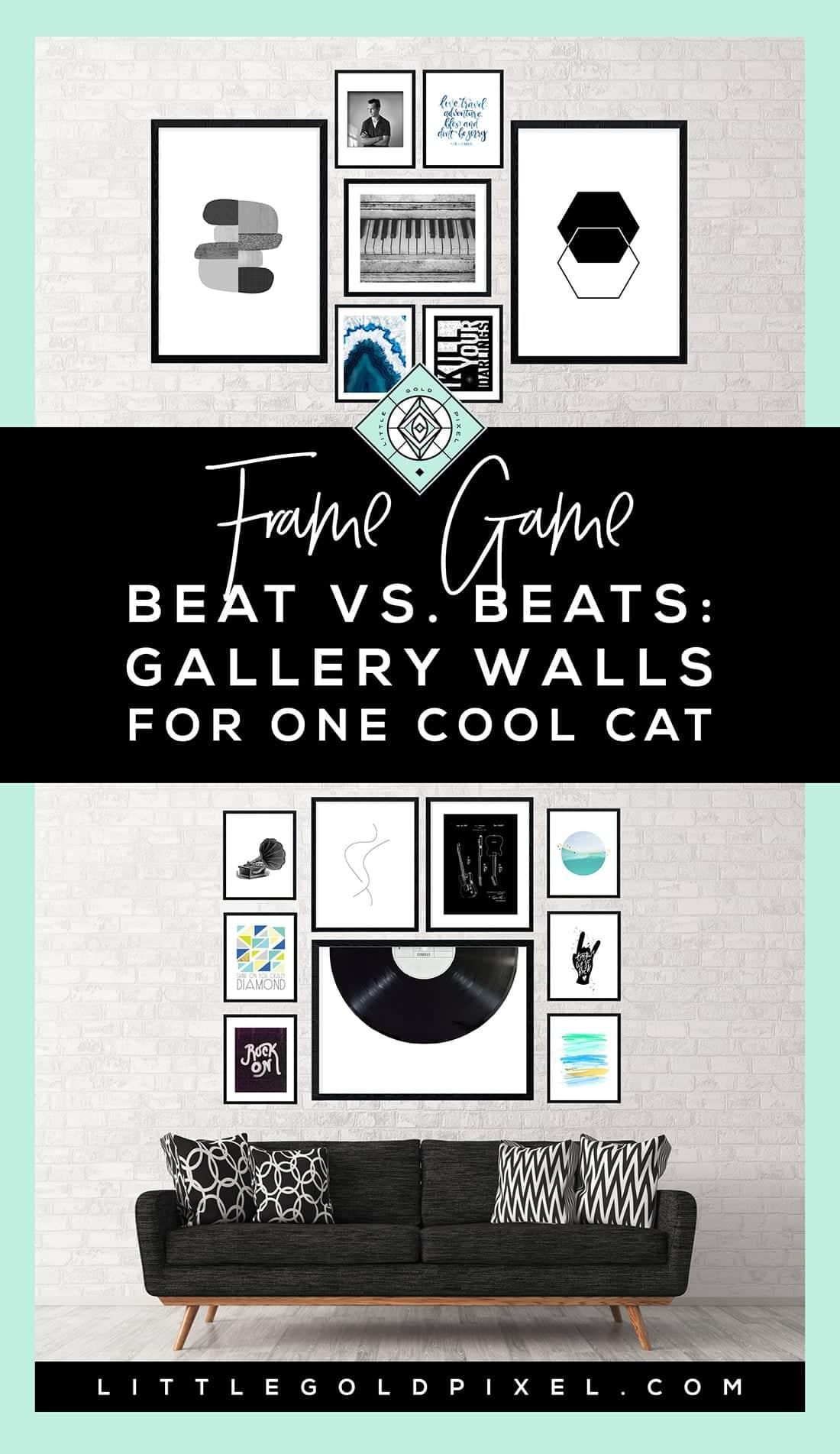 Vintage Frame Game u Hip Rocker Gallery Walls for One Cool Cat u Frame Game is an