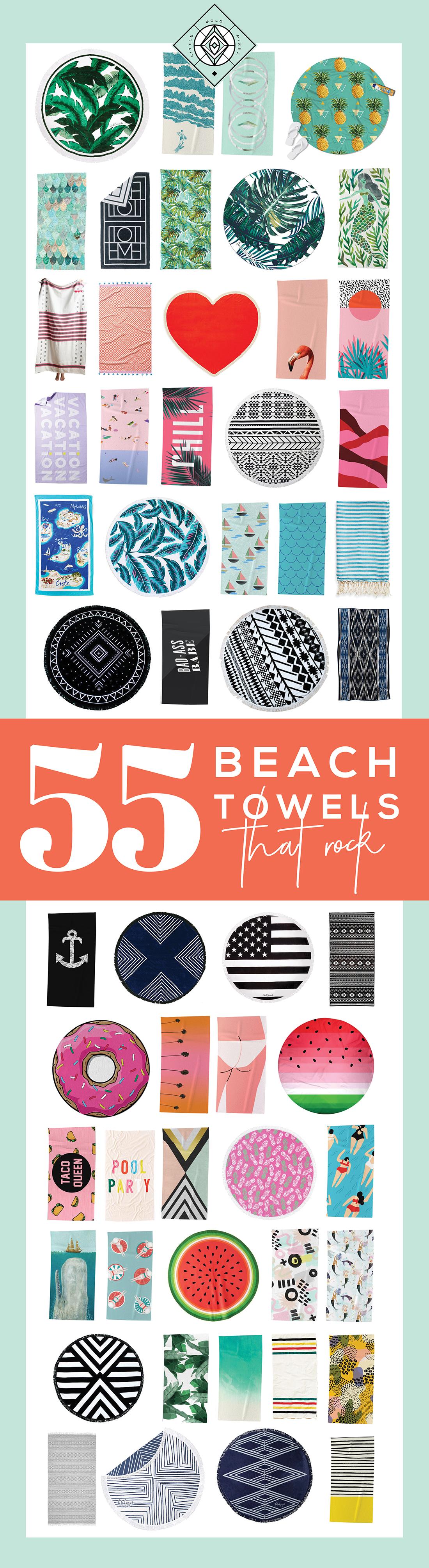 55 Best Beach Towels: A Design Roundup • Little Gold Pixel