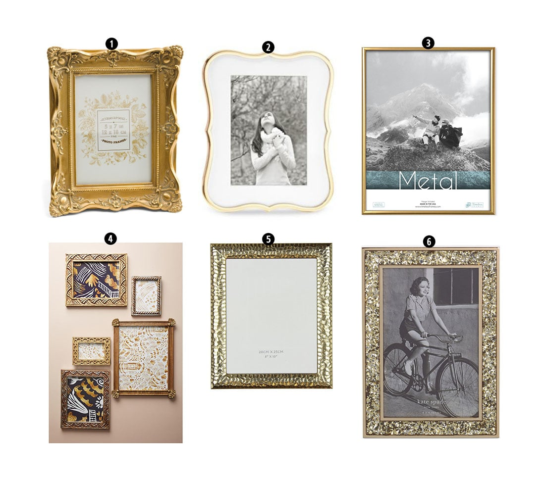 Cool Finish off your boho gallery wall with gold frames Why Gold accents look amazing in boho rooms The more ornate the better Also look in thrift stores to