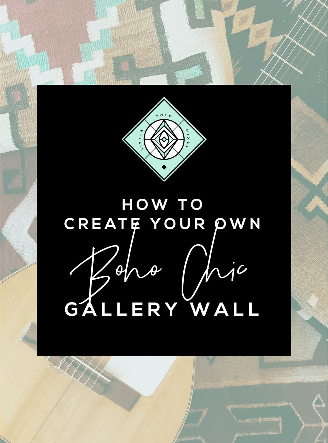 How to Create a Boho Gallery Wall • Little Gold Pixel • You have the boho decor, but what about the boho gallery wall? Click through for a detailed style guide and gallery wall examples!