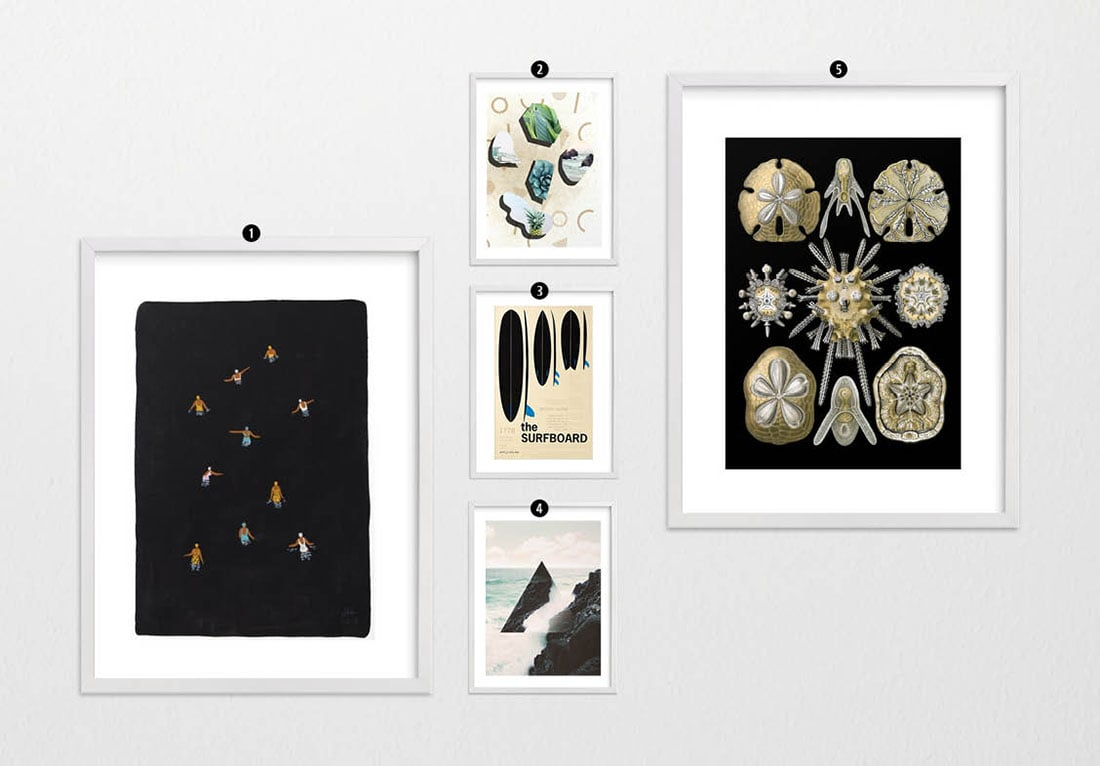 How to Create a Modern Coastal Gallery Wall • Little Gold Pixel •You have the Modern Coastal decor, but what about the coastal gallery wall? Click through for a detailed style guide and gallery wall examples!