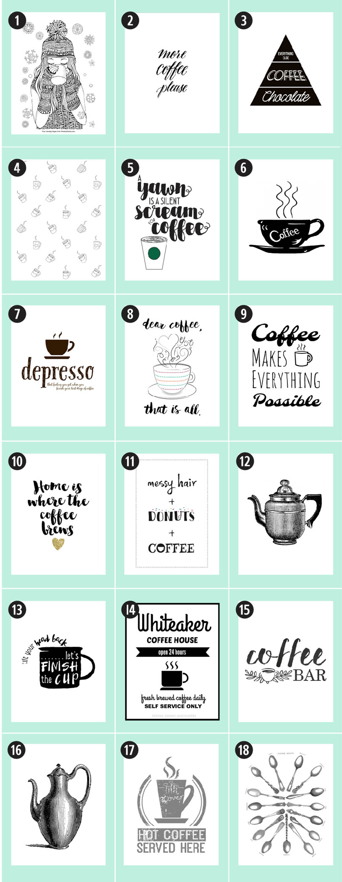 photo relating to Coffee Cup Printable identified as Espresso No cost Printables: 180+ Supreme Marketing consultant Minor Gold Pixel