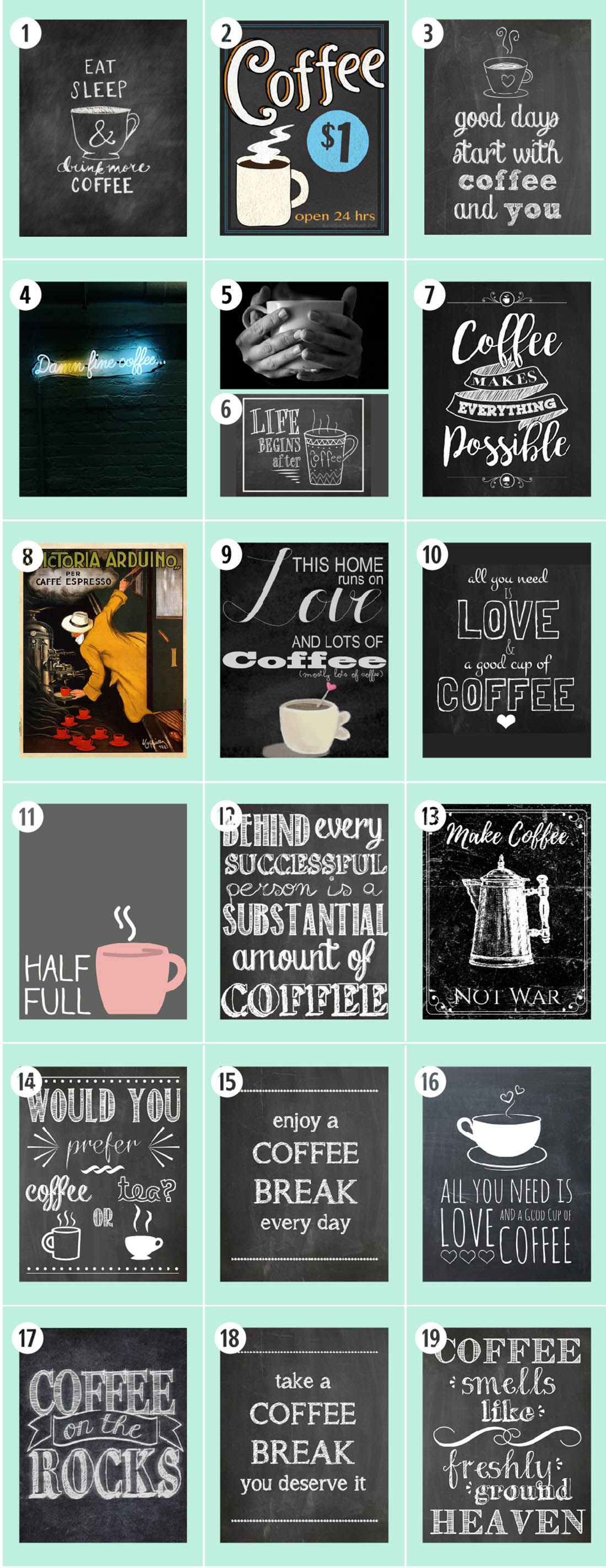 Coffee Free Printables 180 Ultimate Guide Little Gold Pixel