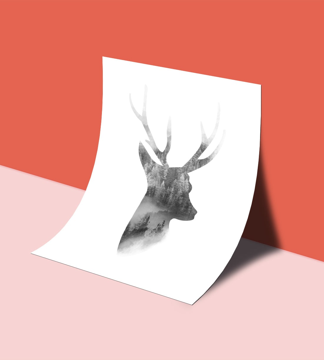 Download This Free Deer Wall Art Printable As Part Of My Freebie Friday  Series. Minimalist