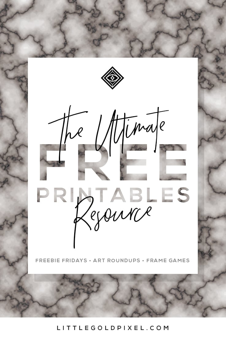 Free printables gallery wall roundups • bookmark now • little gold pixel