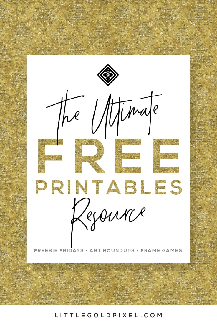 Free Printables Design Gallery Wall Resources Little Gold Pixel