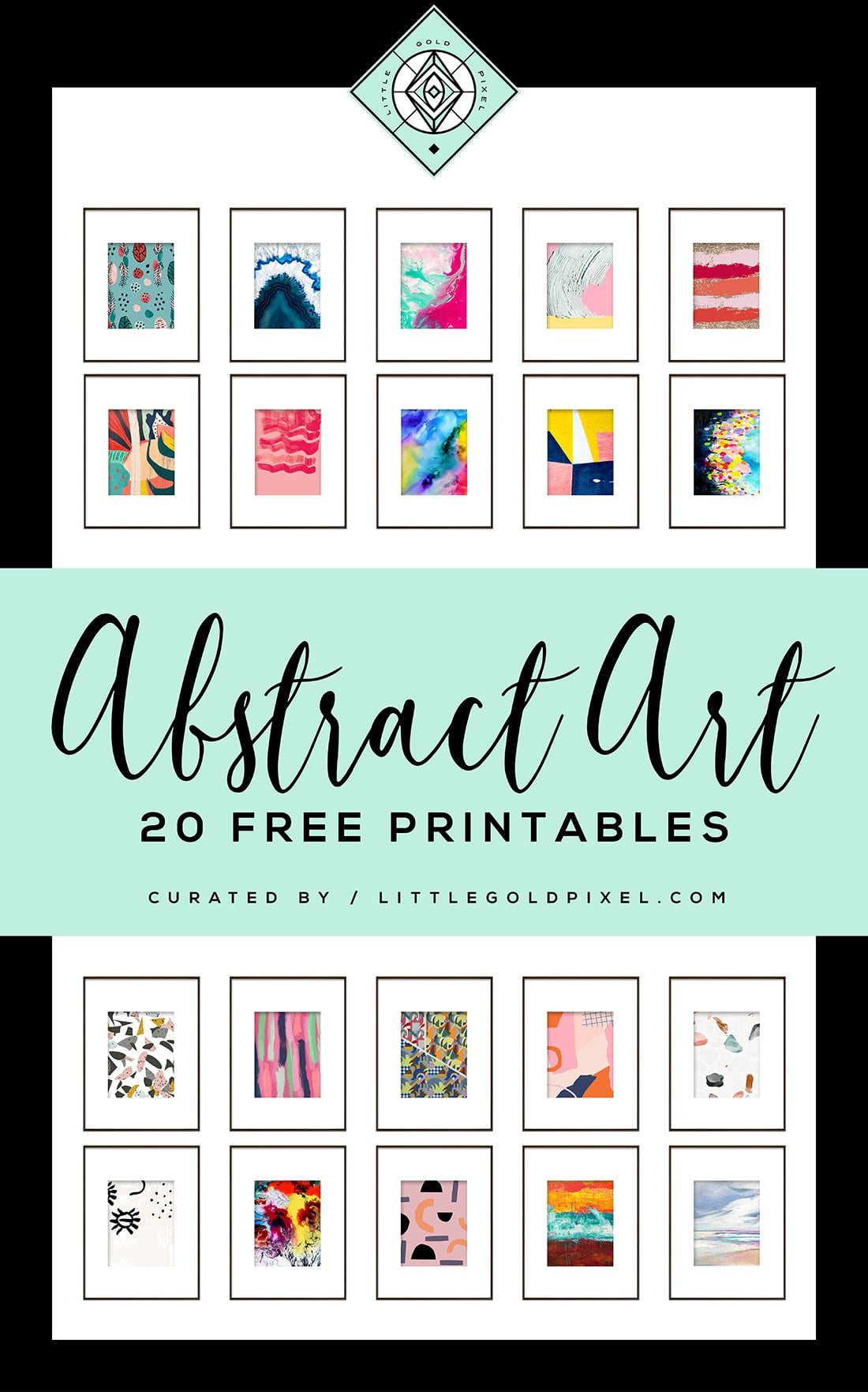 20 Free Abstract Art Printables For Your Gallery Walls Little Gold Pixel