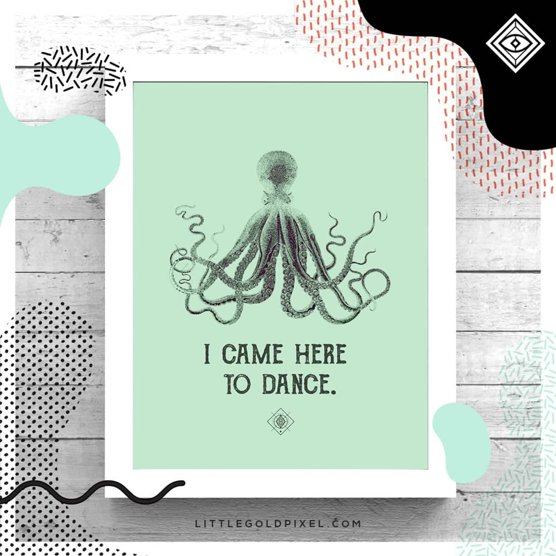 Octopus Free Printable • Freebie Fridays • Little Gold Pixel