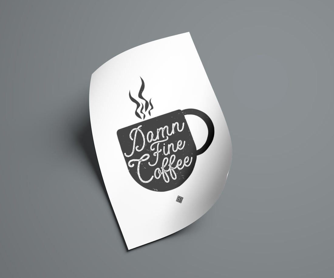 Damn Fine Coffee Free Printable • Little Gold Pixel • Download this Twin Peaks inspired free printable as part of my Freebie Friday series. Instant wall art! Bonus: watch the time-lapse video to see how I made it.