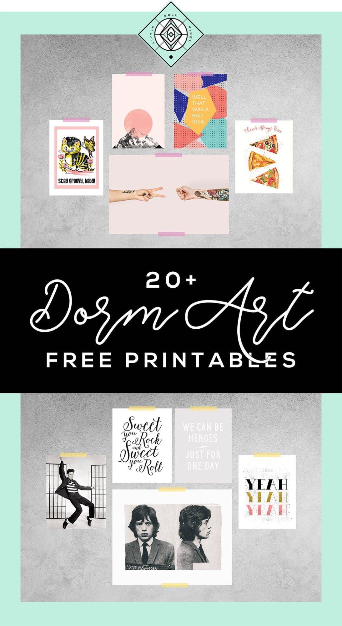 Free Printable Dorm Art 20 Prints For College Students