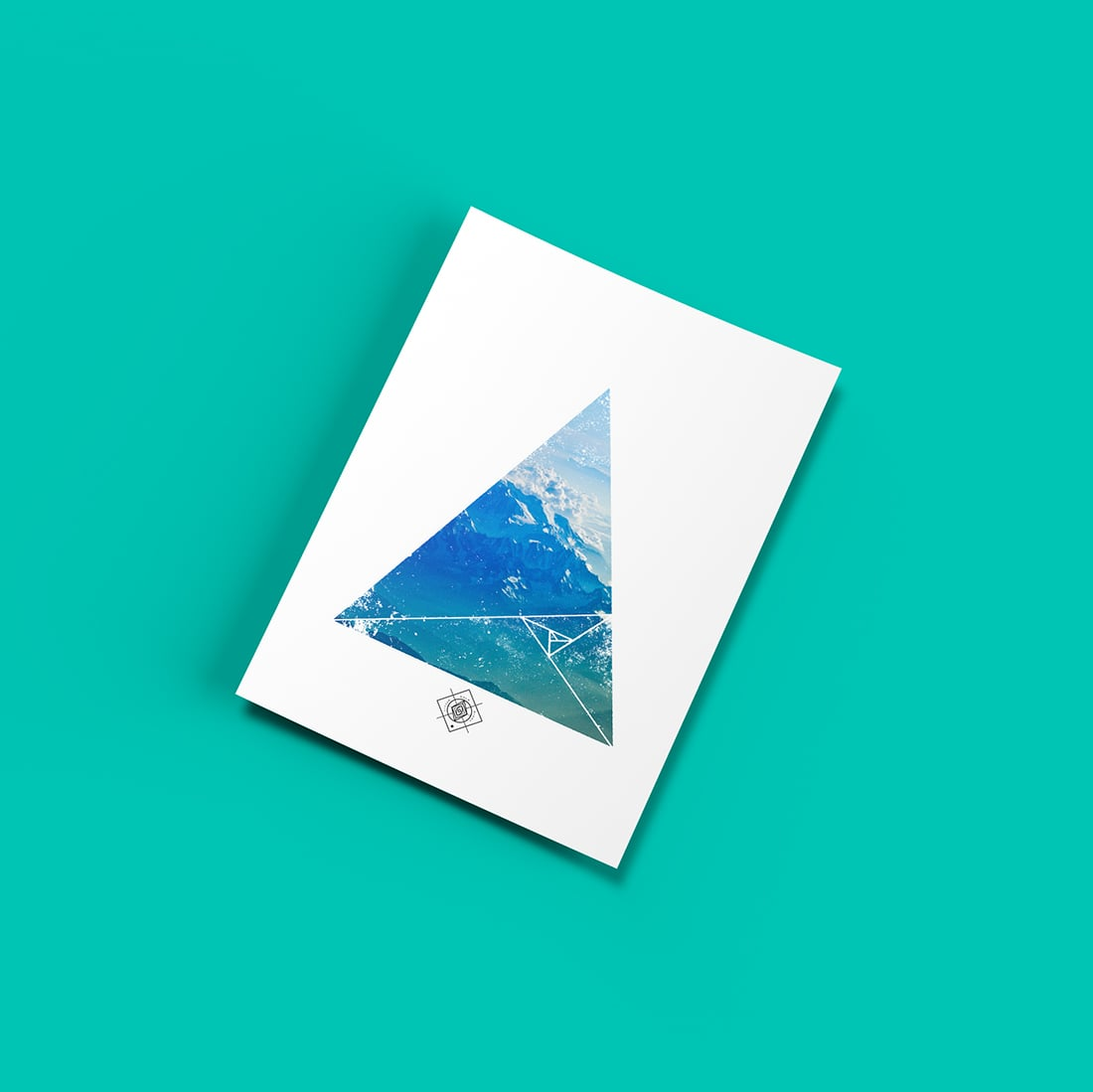 Minimalist Mountain Printable • Freebie Fridays • Little Gold Pixel