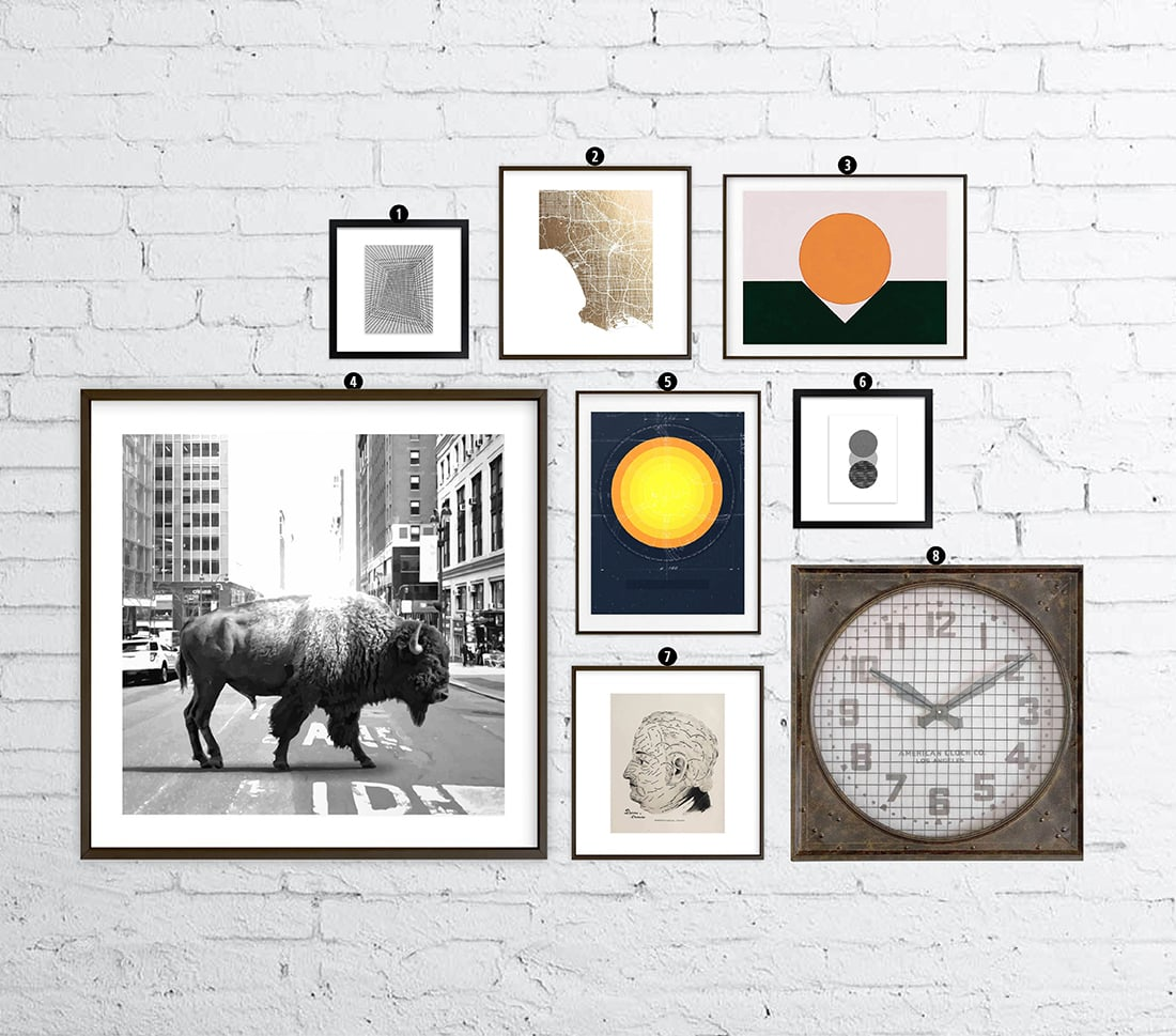 How to Create an Industrial Gallery Wall • Little Gold Pixel •You have the Industrial decor, but what about the equally industrial gallery wall? Click through for a detailed style guide and gallery wall examples!