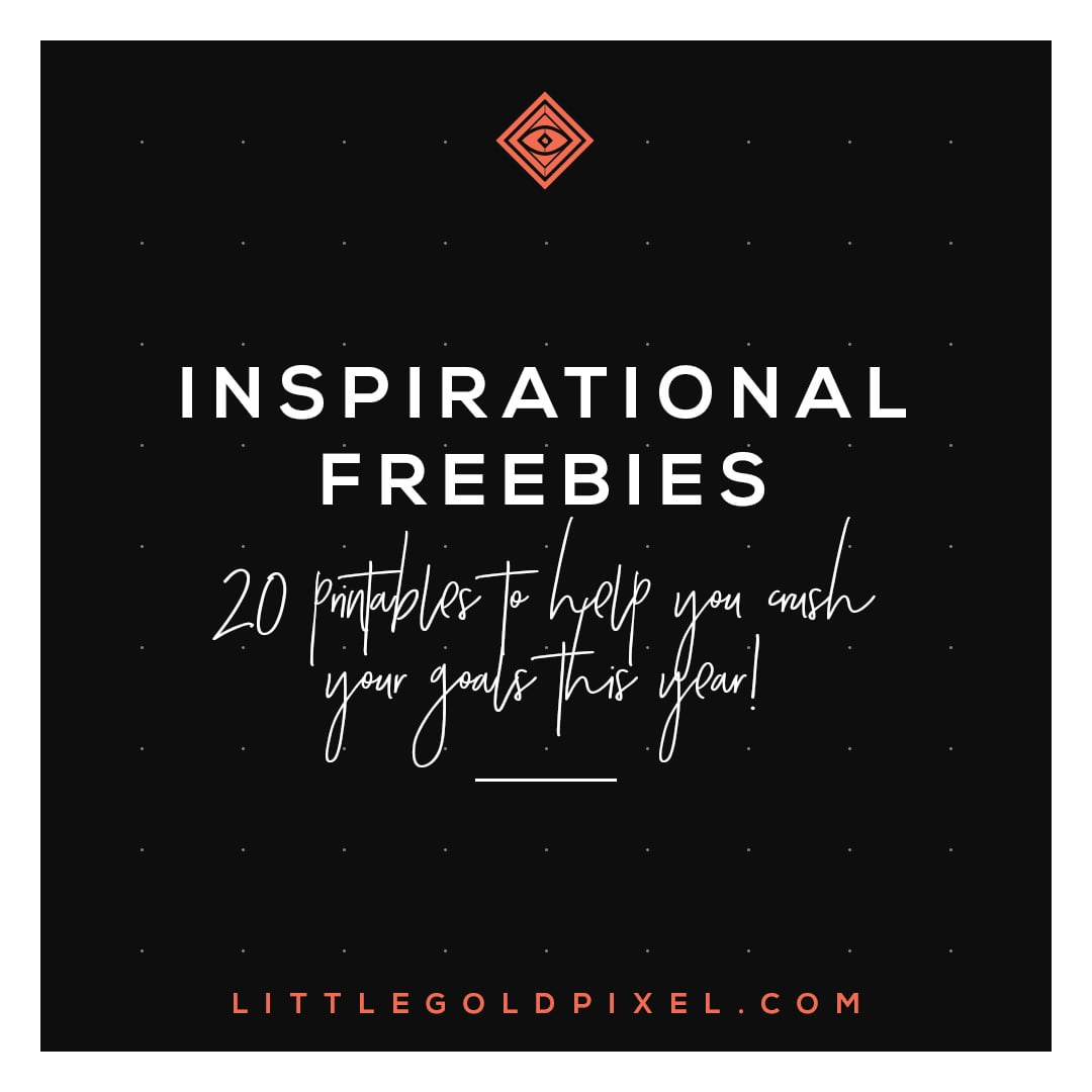 20 Inspiring Printables for 2018•In which I round up 20 inspiring printables for girl bosses to help you reach all your goals in 2018. Print, hang in your office and glance up when you need a little push to be productive. •Little Gold Pixel