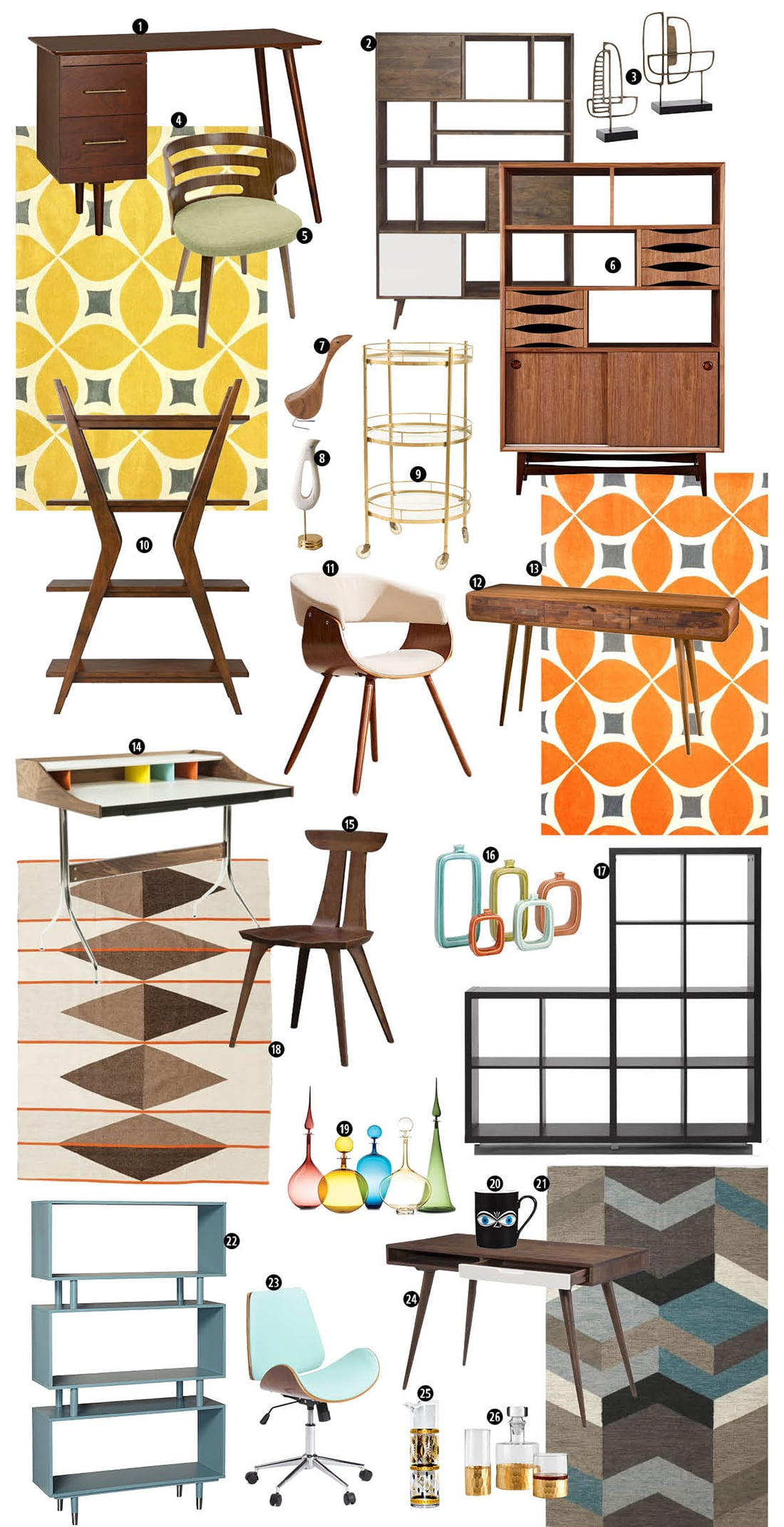 8 Signs Mid-Century Modern Decor is the Right Home Style for You • Little Gold Pixel • Click through to find out if you're compatible with Mid-Century Modern decor!