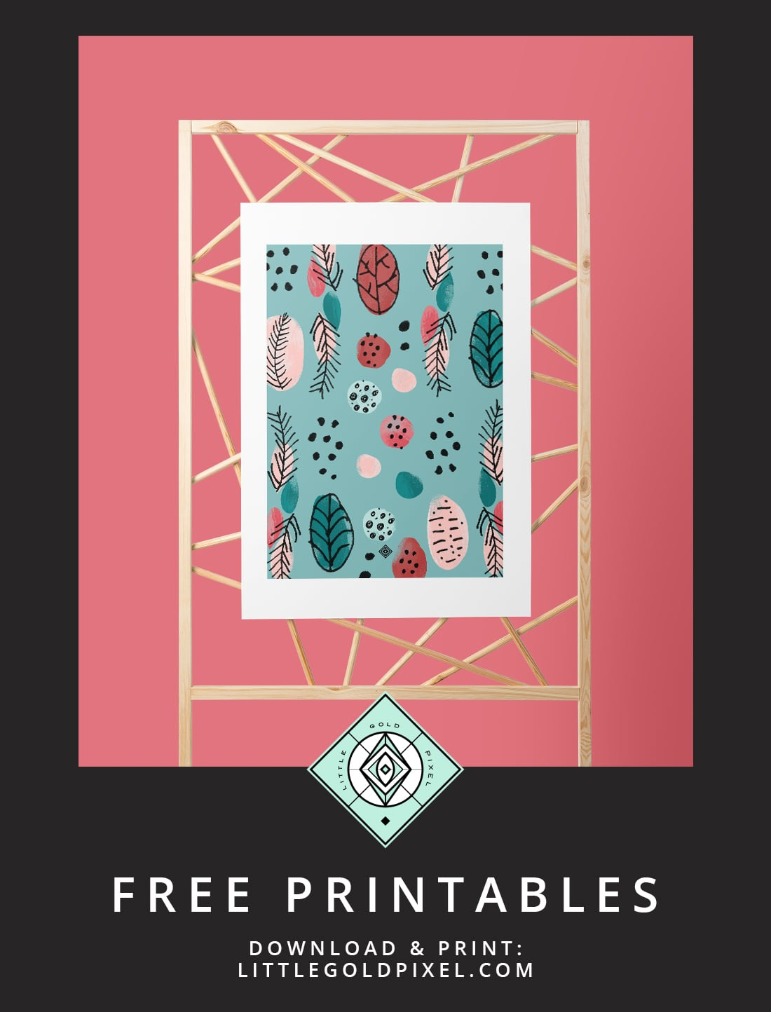 Download this free Mid-Century Illustration Art Printable as part of my Freebie Friday series. Perfect for mid-century modern decor. Print & hang today!