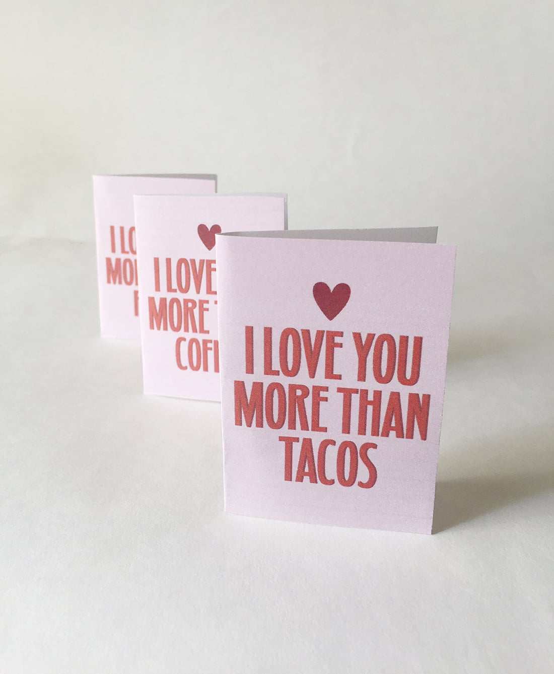 Funny Valentine's Mini Cards •Little Gold Pixel