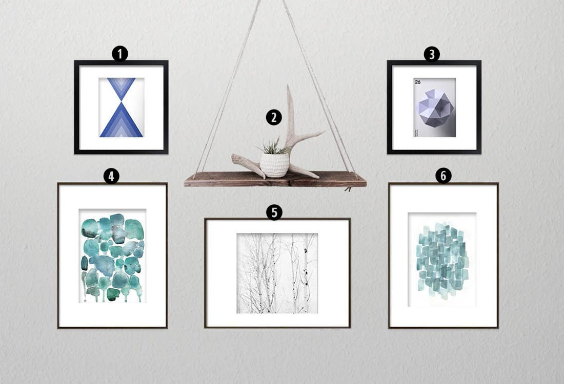 How to Create a Minimalist Gallery Wall • Little Gold Pixel •You have the minimalist decor, but what about the minimalist gallery wall? Click through for a detailed style guide and gallery wall examples!