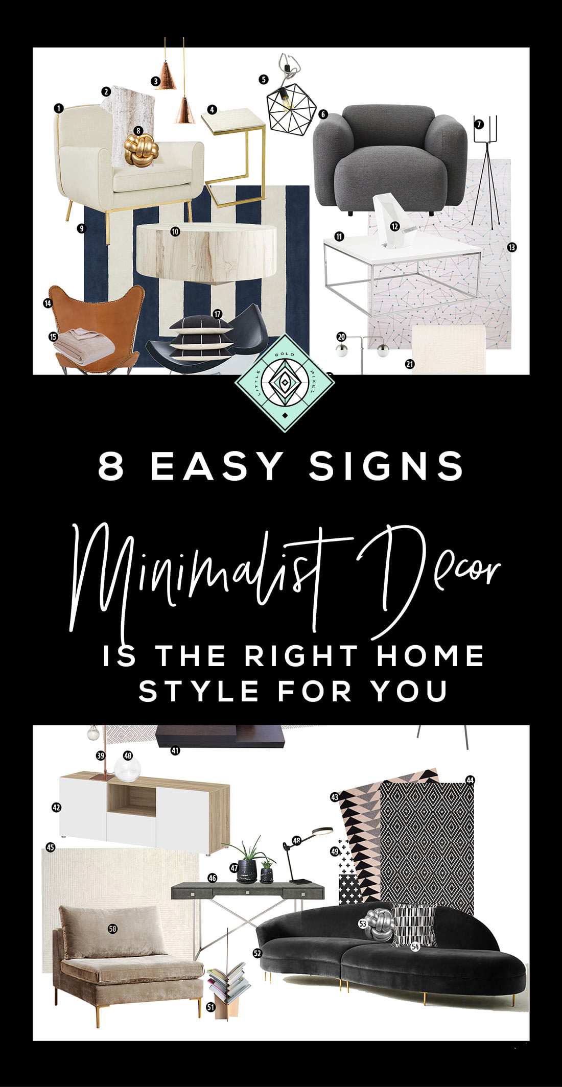 7 Signs Minimalist Decor is the Right Home Style for You • Little Gold Pixel • Click through to find out if you're compatible with minimalist decor!