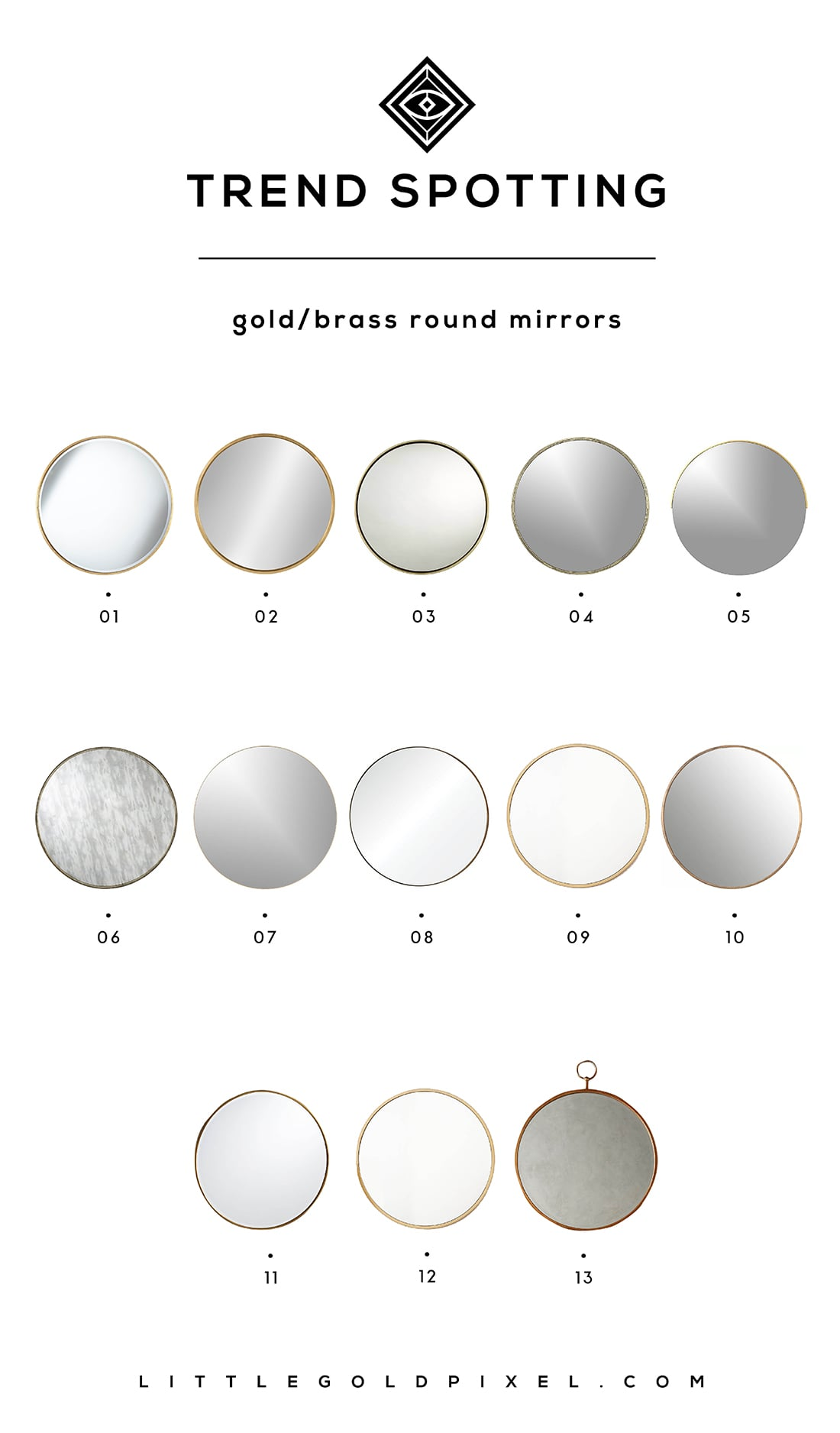 Round Mirrors Are So Hot Right Now Little Gold Pixel