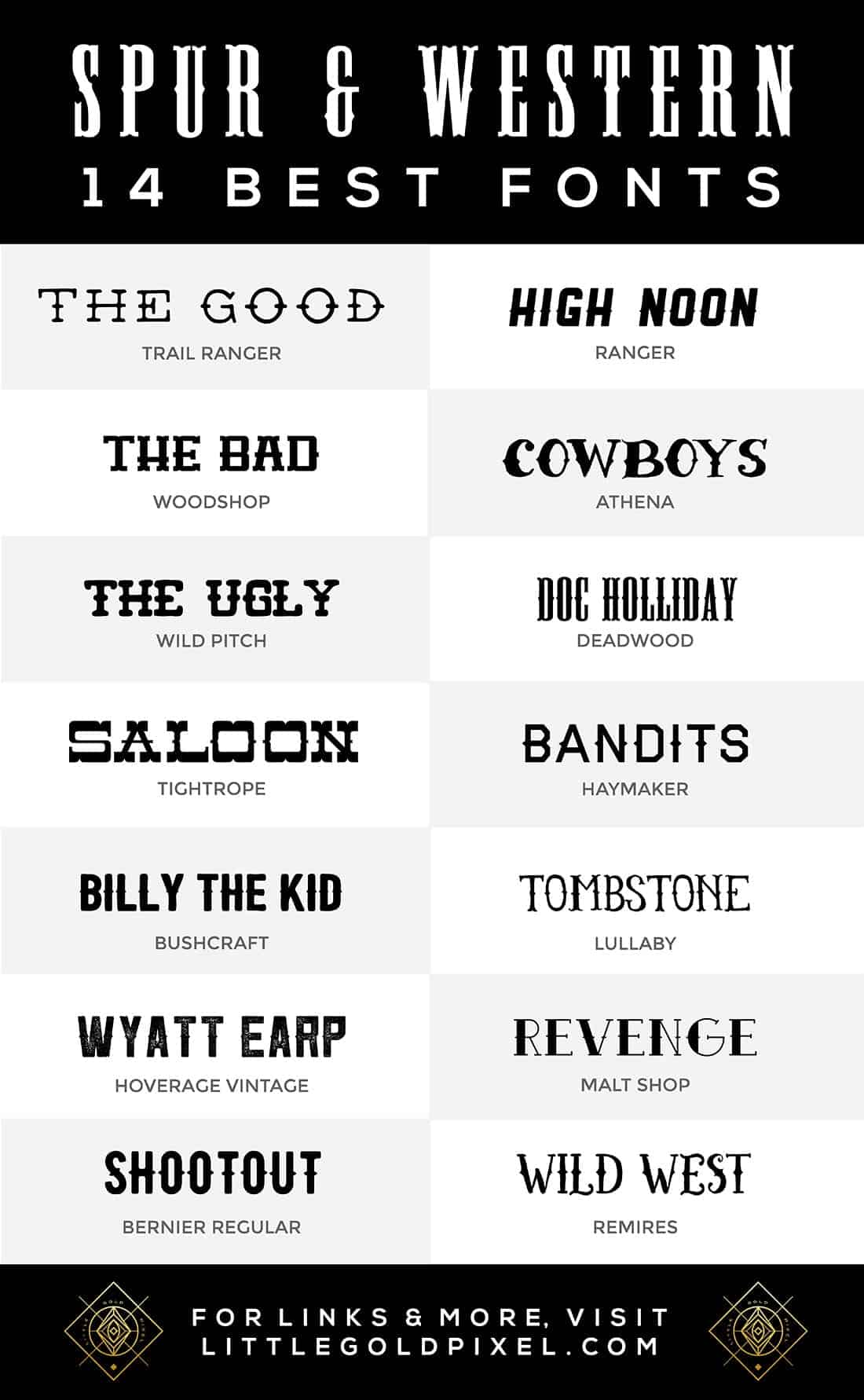 14 Best Spur & Western Fonts for Your Design Projects • Little Gold Pixel