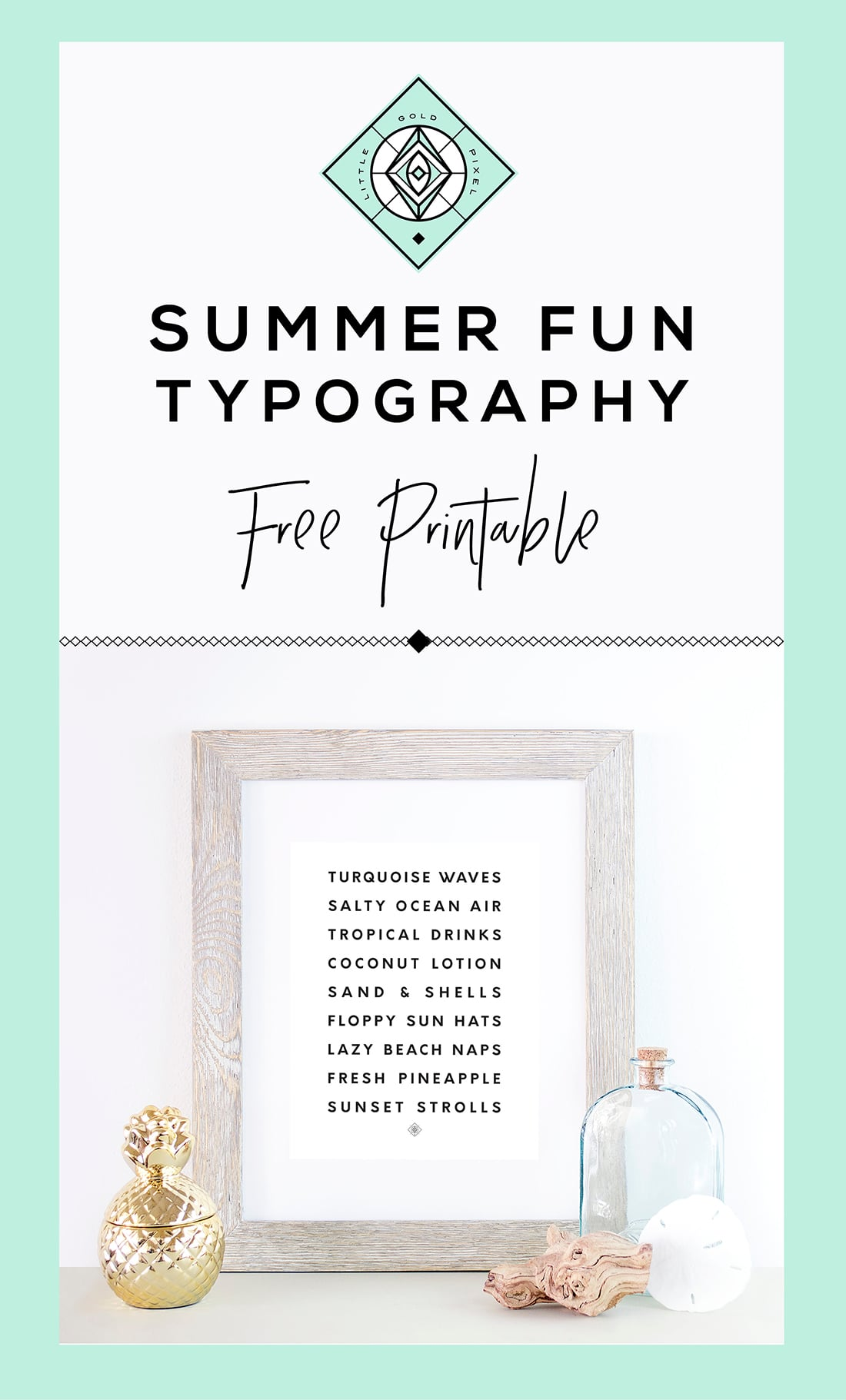 Mango Ginger Mocktail + Free Summer Printable • Little Gold Pixel