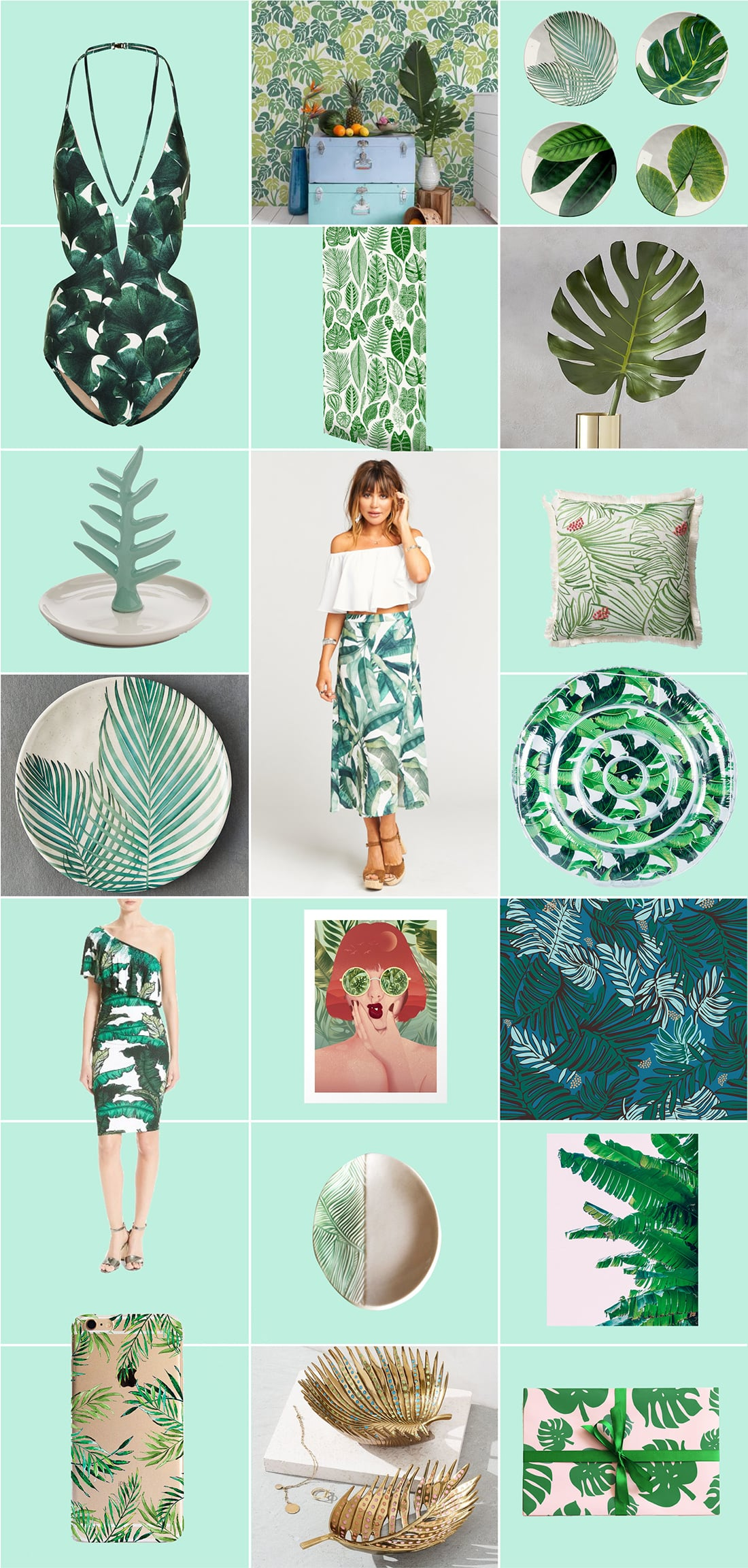 Tropical Leaves: 40+ Designs You Need Right Now •Little Gold Pixel